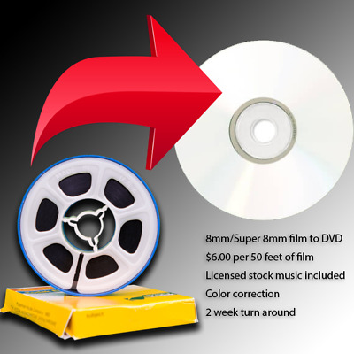 Convert Your 8mm or Super 8 Film Home Movies to DVD (Great Family Gifts!)