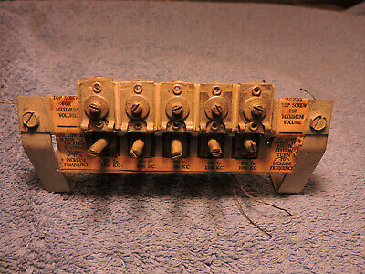 VINTAGE WWII MILITARY Aircraft Radio Coils & Frequency Control Panel  ~Airplane?
