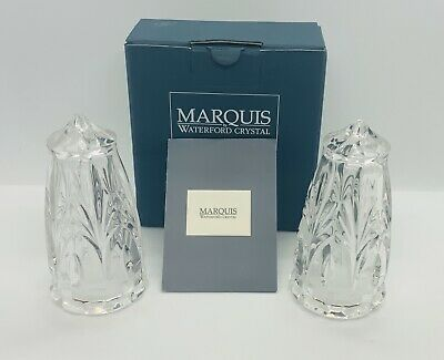 MARQUIS by WATERFORD CANTERBURY Crystal SALT & PEPPER With Box GERMANY