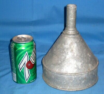 Vtg SMALL Galvanized Metal Farm Tractor Funnel Steampunk Country Decor Crafts!