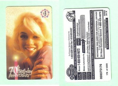 PHONE CARD - MARILYN MONROE - EDITION LIMITED - 176 of 5000 -UNUSED BUT EXPIRED