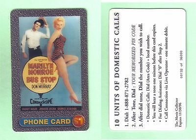 PHONE CARD - MARILYN MONROE - EDITION LIMITED - 132 of 36000 -UNUSED BUT EXPIRED
