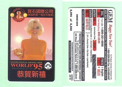 PHONE CARD - MARILYN MONROE - EDITION LIMITED - 8096 of 8888 -UNUSED BUT EXPIRED