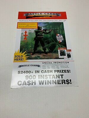 Battle Cards 4 WINDOW PULL TAB TICKETS 3600 Count @ $1