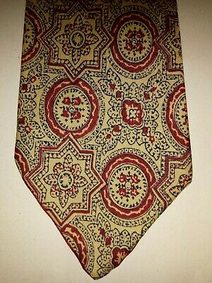 Vintage yellow Red Paisley tie 100% Silk - Ditsy Vintage 1920s
