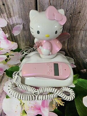 378604613 Collectible Hello Kitty Angel Corded Landline Phone W/Caller ID And Lights