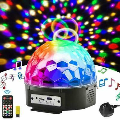 Disco Lights Ball,Loutsbe 9 Color LED Party Lights Stage Lights Rotating Magic B
