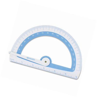 Westcott 14376 Soft Touch School Protractor With Microban Protection, Assorted C