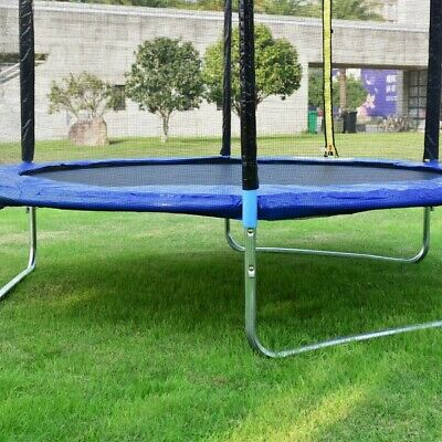 8 ft Safety Jumping Round Trampoline with Spring Safety Pad SP36529+