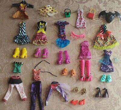 Lot Of Monster High Doll Clothes And Shoes