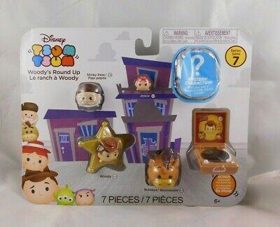 """Disney Toy Story """"Woody's Round Up"""" Tsum Tsum Series 7 Set W/ Mystery Character"""