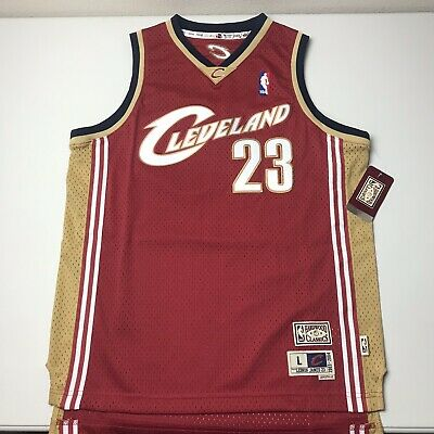 uk availability feccd da8ff NEW LEBRON JAMES Mitchell & Ness Cleveland Cavaliers Throwback Youth Jersey  SZ L