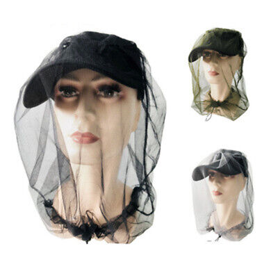 Mosquito Bee Insect Mesh Head Face Protector Fishing Net Mask Hat Cap Accessory