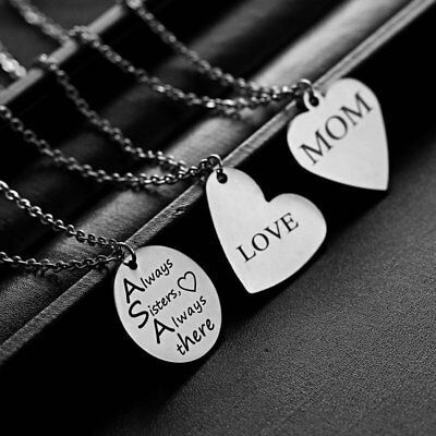 DIY Personalized Stainless Steel Pendant Necklace Custom Jewelry Couple Gift Hot