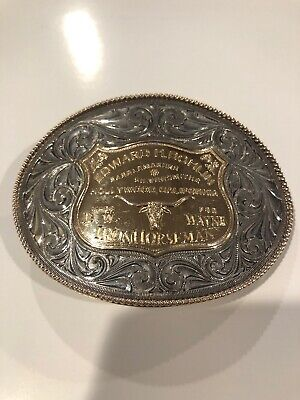Edward H. Bohlin Hollywood Sterling 14k Belt Saddle Seat Plate Trophy Buckle SP1