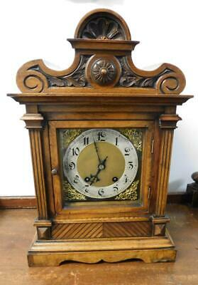walnut cased 1/4 striking ting tang bracket clock