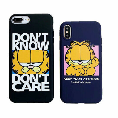 d074e9a9c8 Garfield Cute Cat Cartoon TPU Phone Cover Case For iPhone X XR XS MAX 8 7