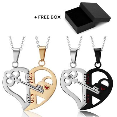 Fashion Hollow Heart Stainless Steel Pendant Neckalce Couple Lovers Jewelry Gift