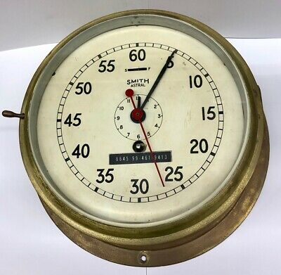 Ex - Australian Navy - Smith Astral - Brass Marine Ships Bridge Clock
