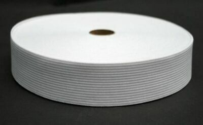 25 Meter Elastic Band 40 mm wide - White