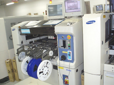 Samsung CP40V Used Pick and Place Machine High Speed SMT Placement Vision Laser