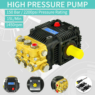 15 LPM 150 Bar 2200PSI Pressure Washer Replacement Pump Solid Shaft Cat General