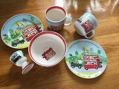 Little Rhymes Queens Kitchen Nursery Porcelain And Melamime Set Cup Plates Bowl
