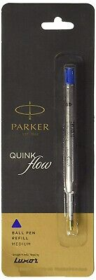 Parker Quink Flow Ball Point Pen Refill Medium Nib - Blue Ink New