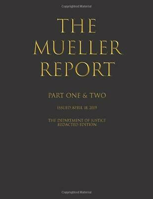 The Mueller Report by Department of Justice Part I and II New Us Free Shipping