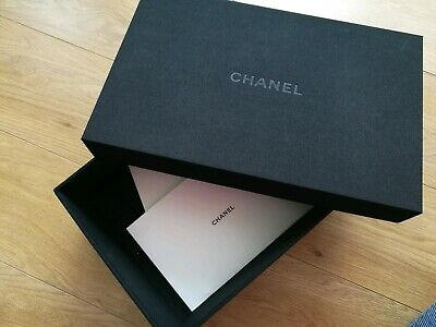 Chanel empty box black fabric