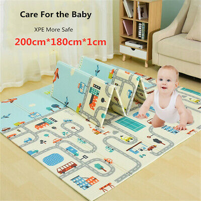 2M Safe Thick Infant Foldable Cartoon Baby Play Mat Carpet Children Crawling Pad