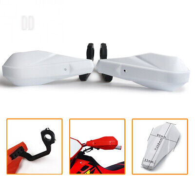 """JFGRACING Motorcycle Plastic Handguards 7/8""""22mm and 1 1/8""""28mm Hand White"""