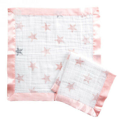 aden by + anais issie security blanket, 100% cotton muslin, 2 pack, doll