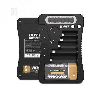 Dlyfull Universal Battery Tester with LCD Display, Multi Purpose Battery...