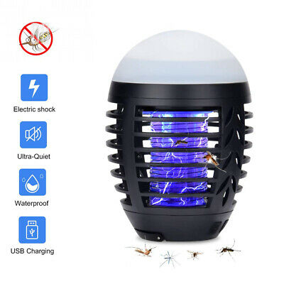 Hisome Bug Zapper Light, Mosquito Killer Lamp UV Insect Trap Portable 2 In 1...