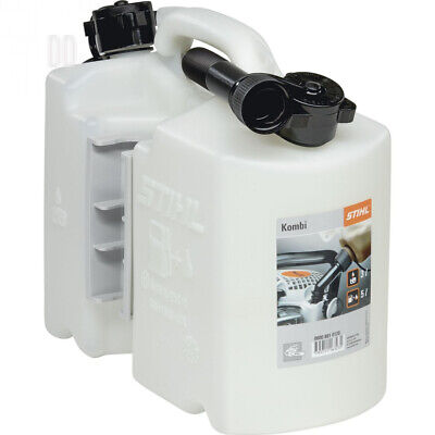 Stihl 8810120 Two-Part Fuel Can for 5L and 3L Oil – Clear