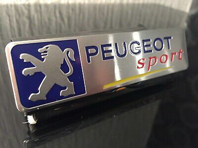 Peugeot Sport Lion Aluminum Decals Sticker 106 205 206 306 107 108 207 208 RCZ