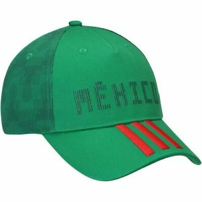 5284ed55 Mens Adidas Green/Red Mexico National Team Country Adjustable Hat Cap NEW