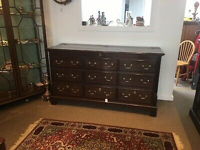 Beautiful Antique Oak Mule Chest / Coffer / Blanket Box / Trunk With Drawers