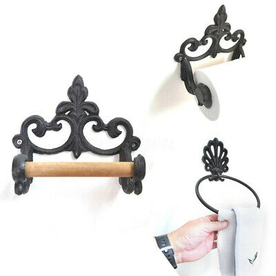 Vintage Stand & Wall Chic Cast Iron Toilet Paper Holders Classical Bathroom