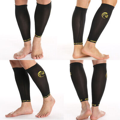 c7c44221d1e486 Copper Compression Calf Sleeves Socks Running Athletic Medical Shin Splint  Leg
