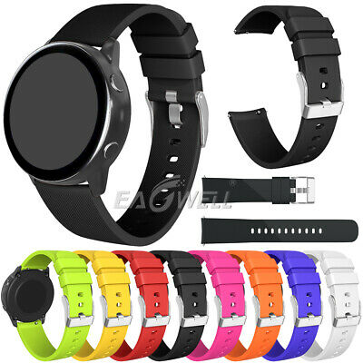 Universal 20mm Quick Fit Sports Soft Silicone Replacement Wrist Watch Band Strap