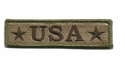 VELCRO® BRAND Hook Fastener Compatible Patch USA Morale Multitan 3.75x1""