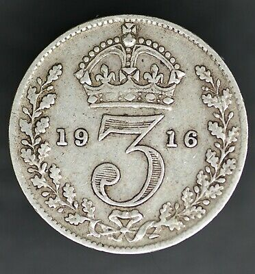 George V Silver Threepences. 1911-1936