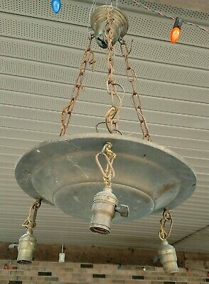 VINTAGE hanging CHANDELIER style LIGHT -  brass - for parts
