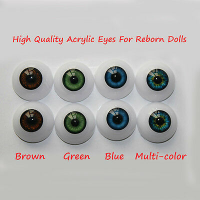 20mm Acrylic Eyes for Reborn Baby Doll Kits or BJD Replace (1 pair)