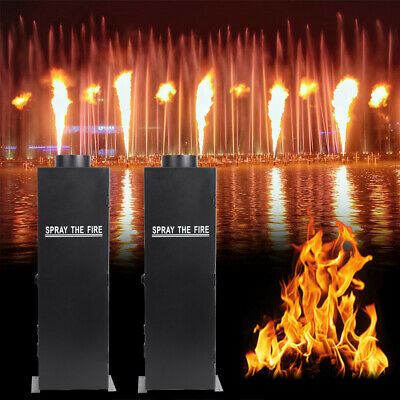 2Pcs 200W Flame Thrower Effect Fire Spray Stage Machine DMX Party Projector US