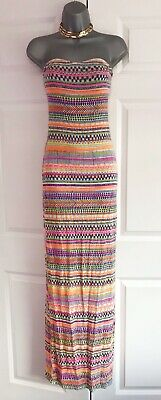 Aztec Neon Festival Jumpsuit Holiday Beach Travel Ibiza Summer Size 8-12 Bnwt Clothing, Shoes & Accessories