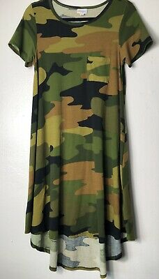 ce66ceb8165e8 LULAROE CAMO CARLY Dress XL Unicorn Camouflage Army Green Black Gray ...