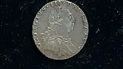 George 111 Silver Sixpence 1787 High Grade.